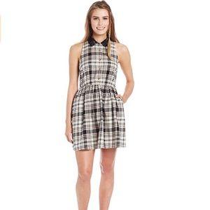 "Volcom ""clueless"" sleeveless plaid mini dress S"